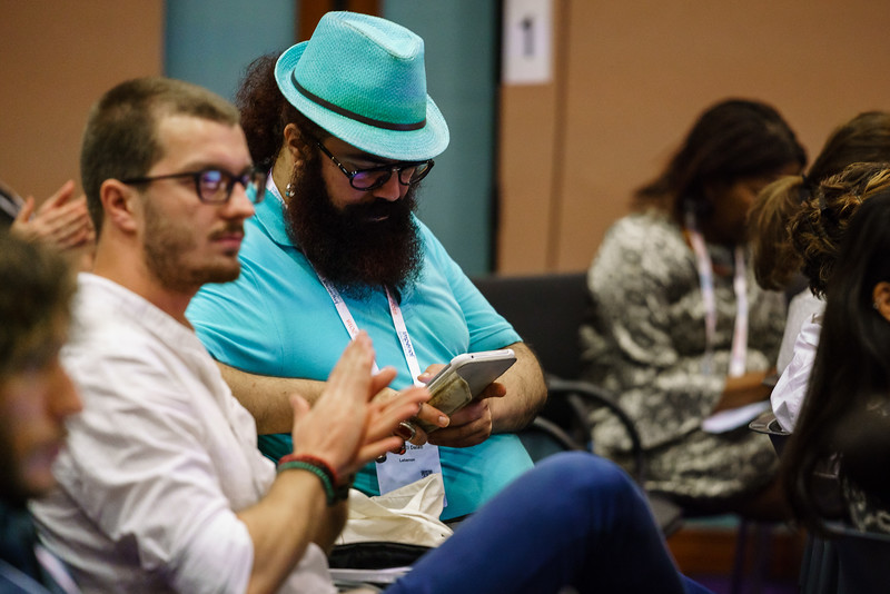 22nd International AIDS Conference (AIDS 2018) Amsterdam, Netherlands.   Copyright: Matthijs Immink/IAS  Young people at the centre: Community mobilization for youth-friendly HIV services  On the photo: