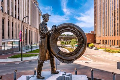 Rubber Worker Statue 5-13-2021