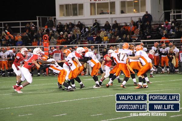 Portage High School Senior Night vs La Porte Football 10-12-12