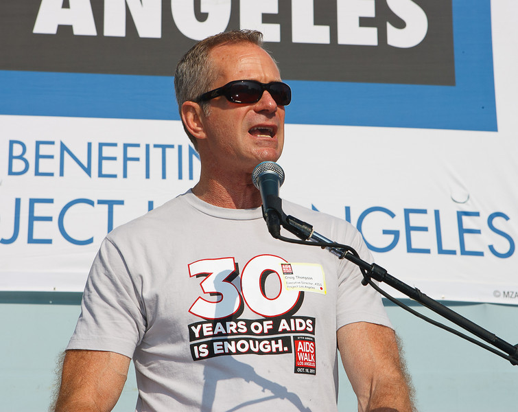 Craig Thompson APLA CEO 27th ANNUAL AIDS WALK LOS ANGELES
