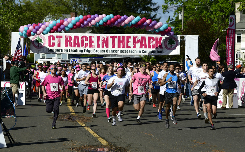 5/11/2019 Mike Orazzi   Staff The 5K start during the 16th annual Race in The Park held Saturday in New Britain.