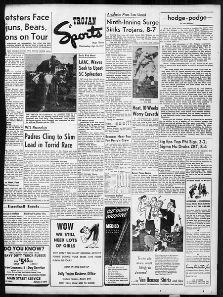 Daily Trojan, Vol. 38, No. 115, April 16, 1947