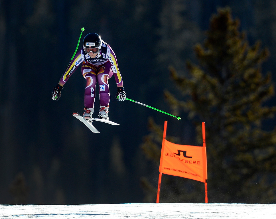 . BEAVER CREEK, CO - FEBRUARY 9: Ragnhild Mowinckel of Norway competes in the Women\'s downhill portion of the women\'s alpine combined race at the FIS Alpine World Ski Championships in Beaver Creek, CO. February 8, 2015. (Photo By Helen H. Richardson/The Denver Post)