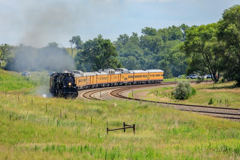 The only curve track near Gothenburg, Nebraska