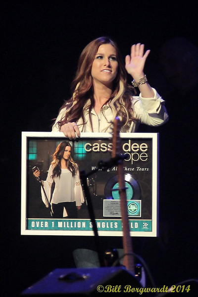 """Cassadee Pope received a Million Seller award for her single """"Wasting All Those Tears"""" - Grand Ole Opry"""
