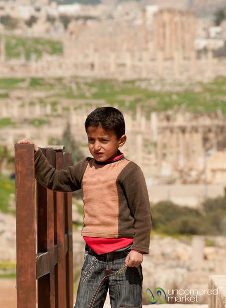 Young Spectator in Jerash, Jordan