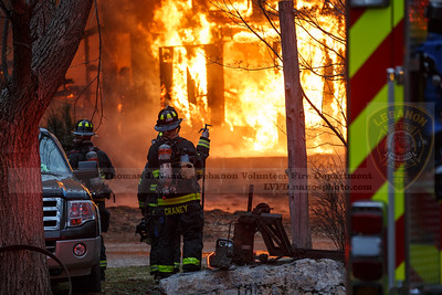 Barn Fire - 84 Norwich Ave, Lebanon, CT - 1/15/21