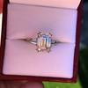 3.76ctw Emerald Cut Diamond Ring, by Leon Mege GIA H VS 11
