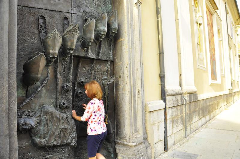 unique cathedral entry in Ljubljana