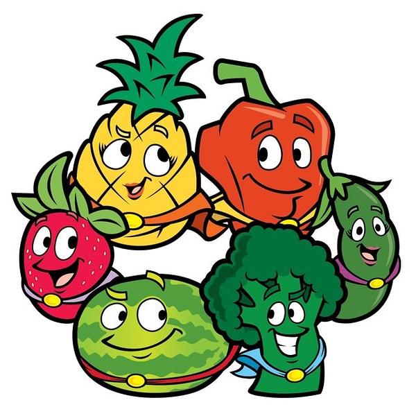 (L58) Happy Fruits and Veggies