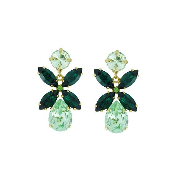 Dione Earrings / Chrysolite + Emerald