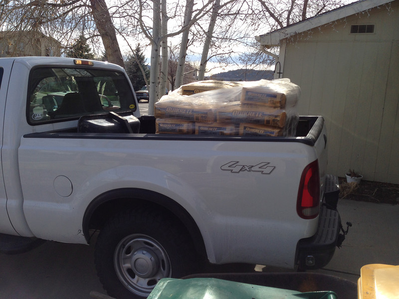 Just starting to ride comfortably with 3200 pounds of concrete in the back!