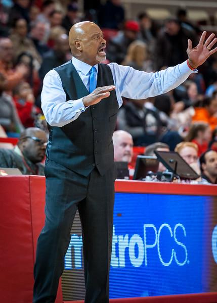 Georgetown head coach Jim Lewis