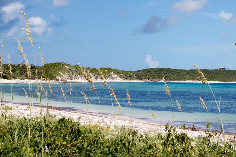 The beach at Dean's Blue Hole, Long Island, Bahamas
