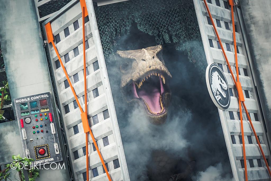 Universal Studios Singapore Park Update - Jurassic World Explore and Roar event - Jurassic World: ROAR! show / T-Rex Unleashed 2