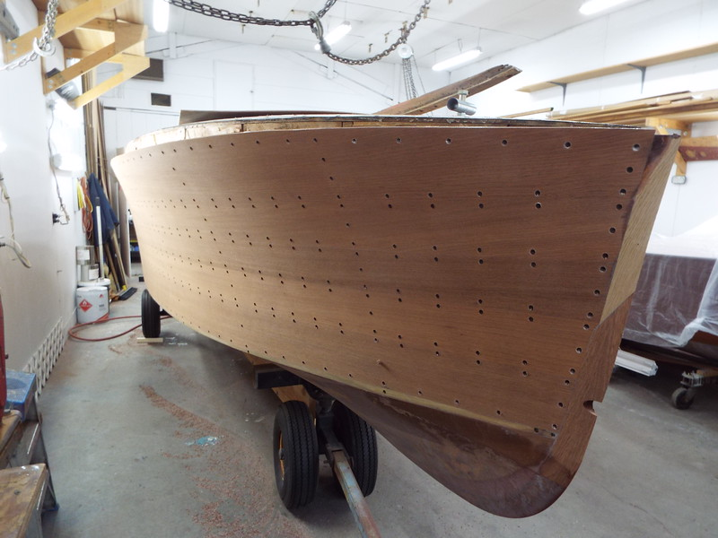 Front starboard drilled for plugs.