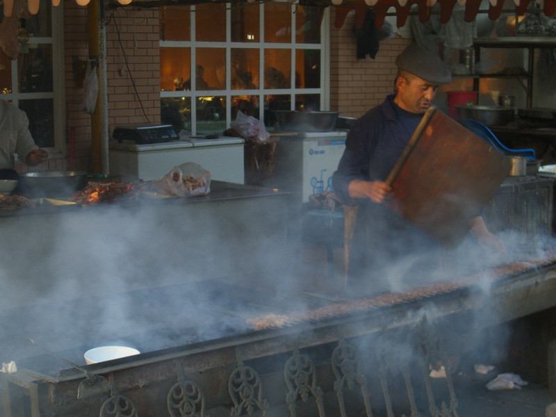 Xinjiang Food: Making Kebab - Kashgar, China