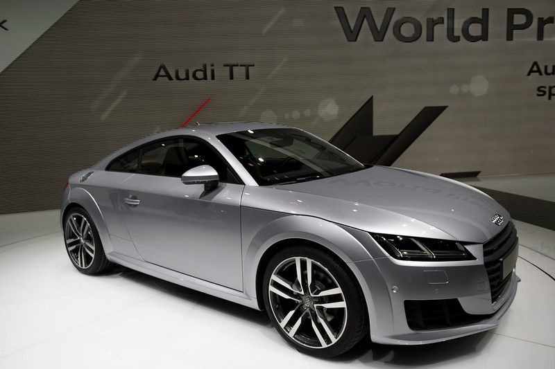 . The new Audi TT is presented during the press day at the 84th Geneva International Motor Show in Geneva, Switzerland, 04 March 2014. The Motor Show will open its gates to the public from 06 to 16 March presenting more than 250 exhibitors and more than 146 world and European premieres.  EPA/MARTIAL TREZZINI