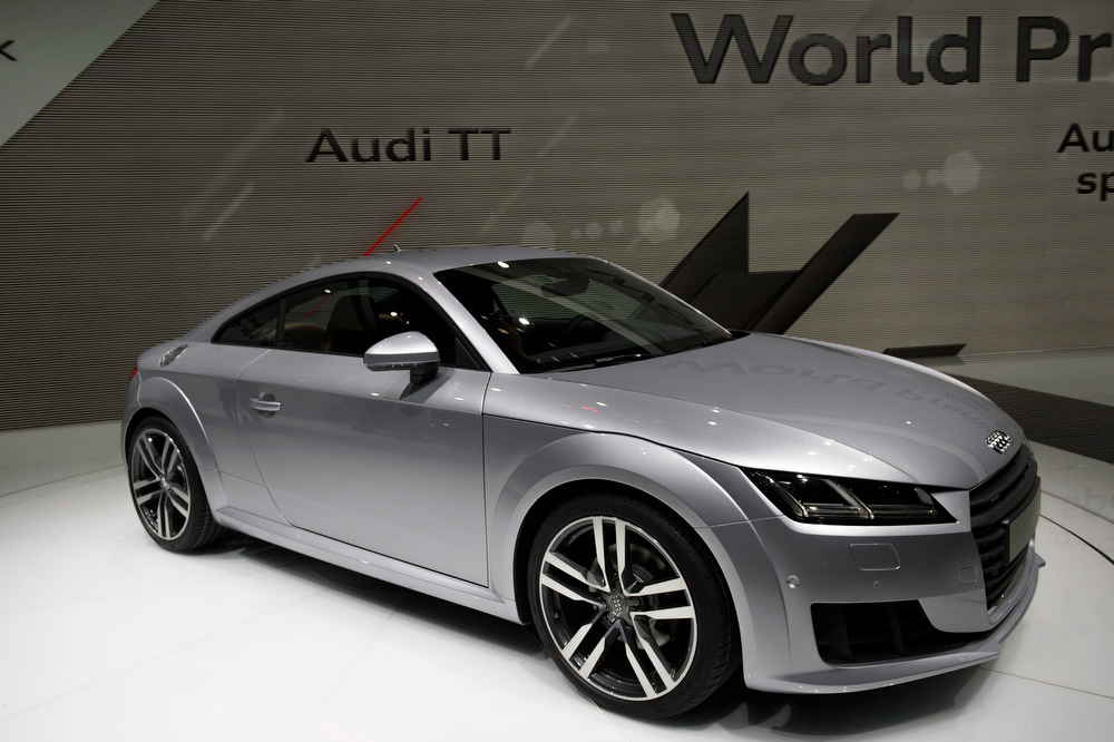 Description of . The new Audi TT is presented during the press day at the 84th Geneva International Motor Show in Geneva, Switzerland, 04 March 2014. The Motor Show will open its gates to the public from 06 to 16 March presenting more than 250 exhibitors and more than 146 world and European premieres.  EPA/MARTIAL TREZZINI
