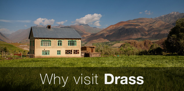 Drass, the second coldest inhabited place in the world in Kashmir, India