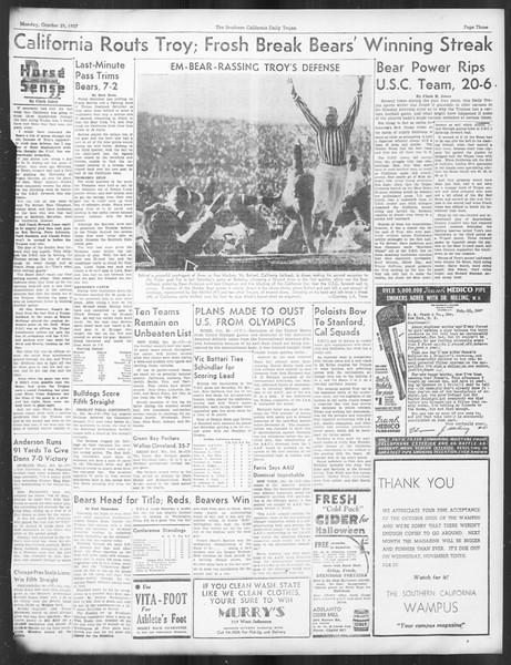Daily Trojan, Vol. 29, No. 27, October 25, 1937