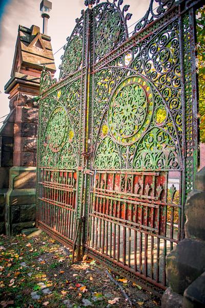 The side Gates stand gaurd