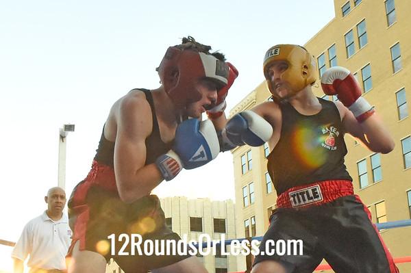 Bout 5 Drew Smith, Salem/Salem Boxing -vs- Logan Brown, Akron/Terminator Boxing, 142 lbs