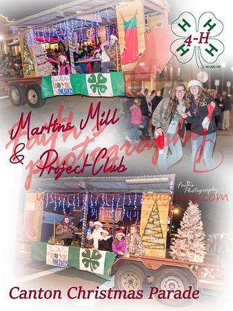 4-H at Canton Christmas Parade 121417