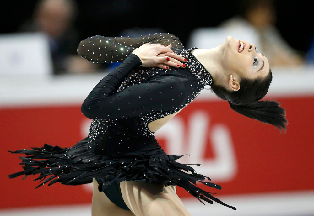 . Kaetlyn Osmond of Canada performs during the Ladies Short Program at the ISU World Figure Skating Championships in London, Ontario, March 14, 2013. REUTERS/Mark Blinch