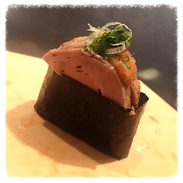 First time for everything: monkfish liver. I still vote ikura or uni.