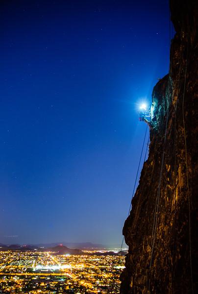 Arizona Night Climbing