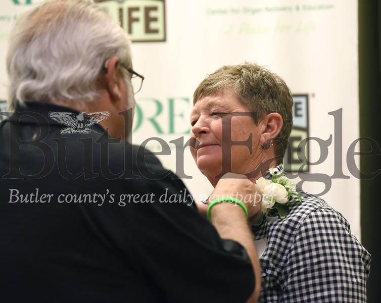 Penn Twp resident William Hutz is reunited with his kidney donor Oma Palmer at the Allegheny General Hospital Living Donor's Gift of Life Donor Pinning ceremony