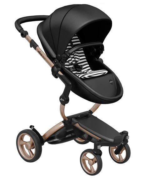 Mima_Xari_Product_Shot_Black_Flair_Rose_Gold_Chassis_Black_And_White_Stripe_Seat_Pod.jpg