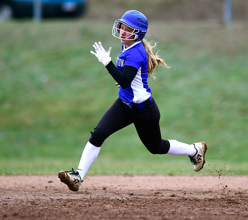 4/9/2019 Mike Orazzi | Staff Southington's Chrissy Marotto (2) during Tuesday's softball game in Bristol.