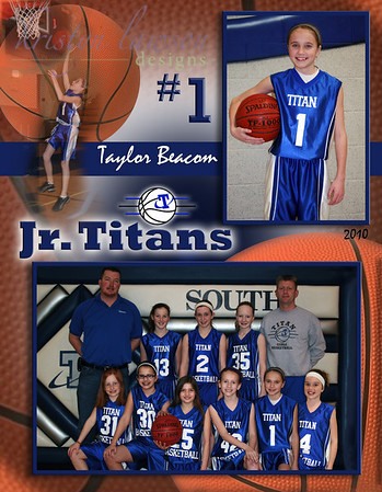 2010 Jr. Titans Basketball Collages