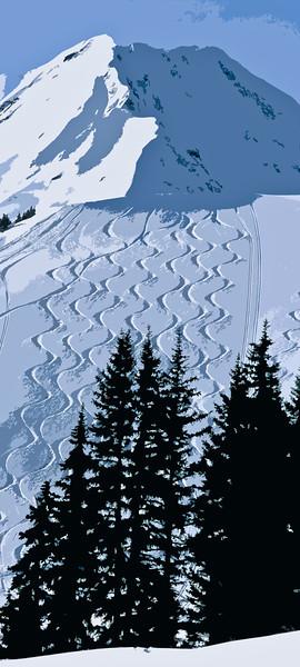 Ski Track Art