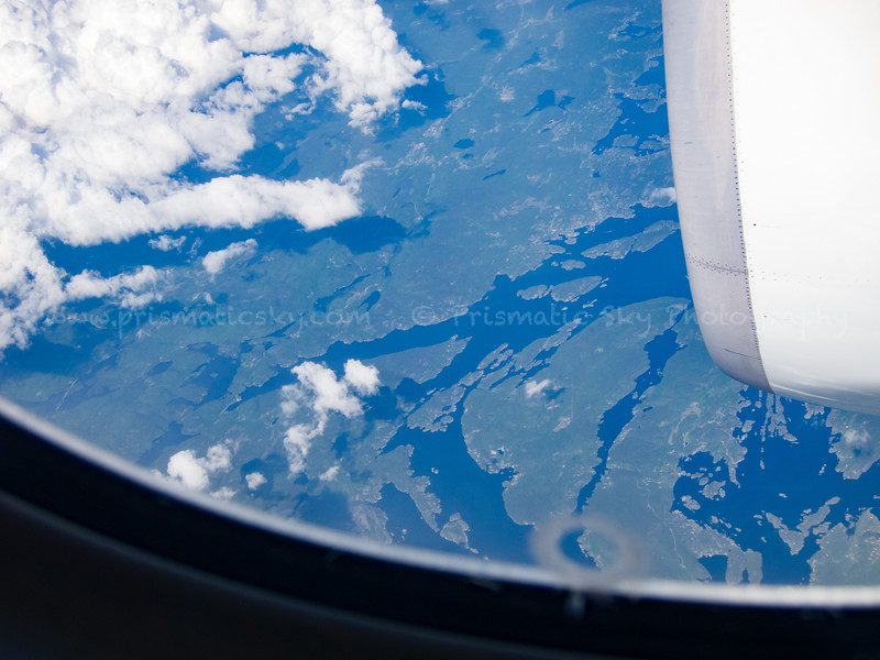 Somewhere over Scandinavia