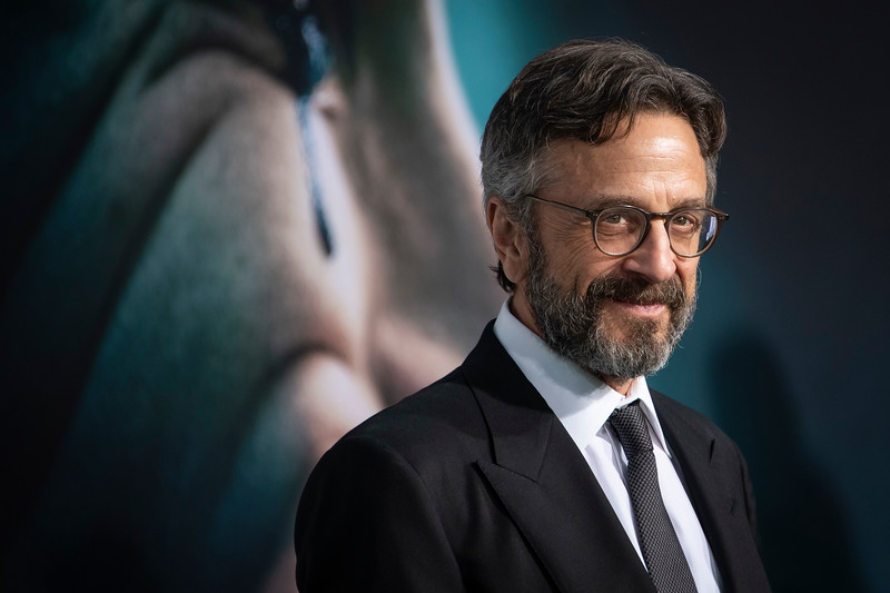 """HOLLYWOOD, CALIFORNIA - SEPTEMBER 28: Marc Maron attends the premiere of Warner Bros Pictures """"Joker"""" on Saturday, September 28, 2019 in Hollywood, California. (Photo by Tom Sorensen/Moovieboy Pictures)"""