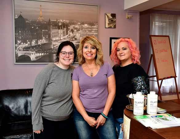 6/12/2019 Mike Orazzi | Staff The Hairs Inn in Plymouth. Left to right: Briona Martinez, Holly Levesque and Kristina Hailstones.