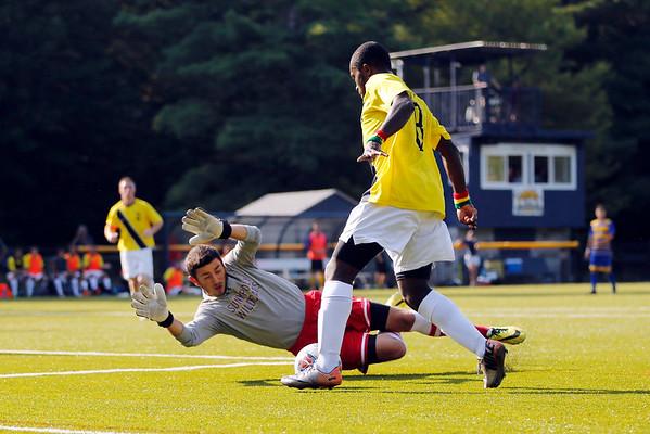 MCLA mens soccer season opener against SUNY-Poly-090115