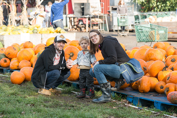 Laura, Joel, and Miles Pumpkin Patch October 2016