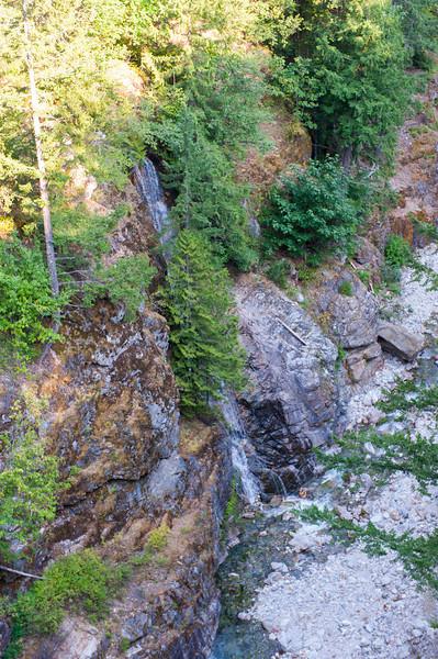 Small waterfall near the Gorge Dam