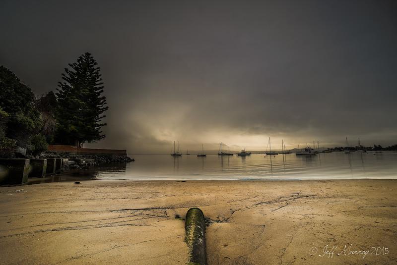 Gentle rain in Sandy Bay