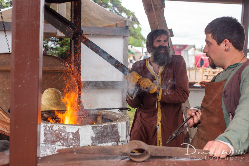 Blacksmiths at work.