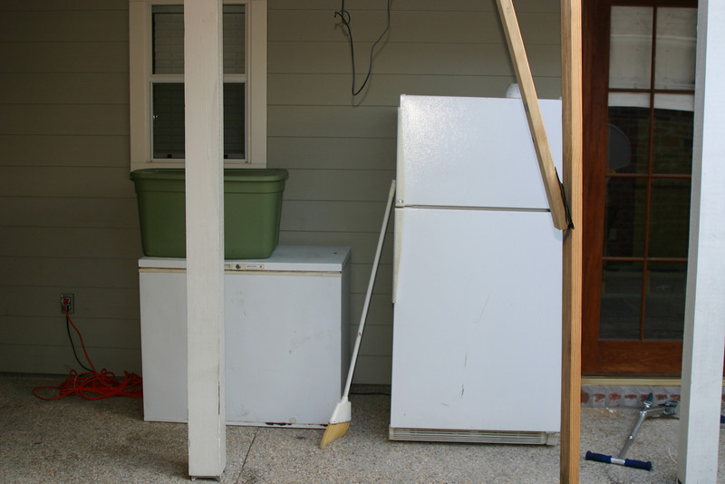 Who wouldn't want a fridge and freezer on their back porch?