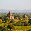 Ancient Land of Bagan from Shwesandaw Temple, Bagan