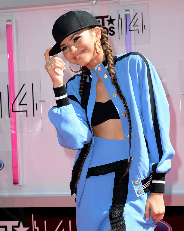 . Actress Zendaya attends the BET AWARDS \'14 at Nokia Theatre L.A. LIVE on June 29, 2014 in Los Angeles, California.  (Photo by Earl Gibson III/Getty Images for BET)