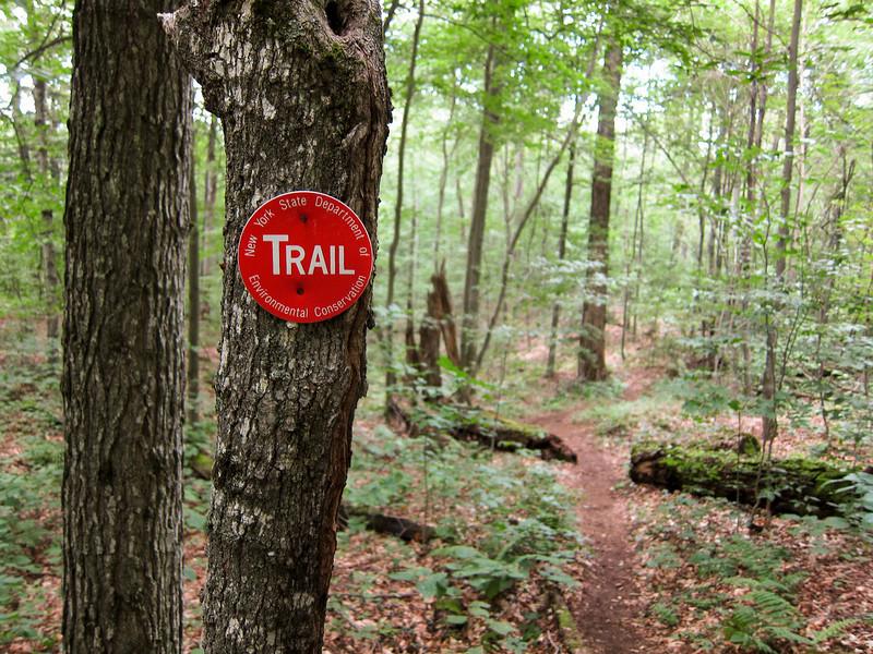I like trail markers.