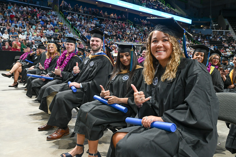More than 700 students graduated during the summer 2021 commencement ceremony held on Saturday, Aug. 7, at the American Bank Center.