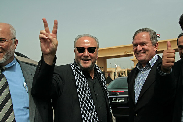 First day at Rafah crossing for VP convoy